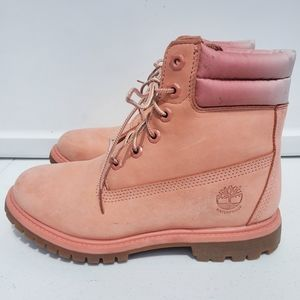TIMBERLAND Classic Nubuck Waterville Pink Boots